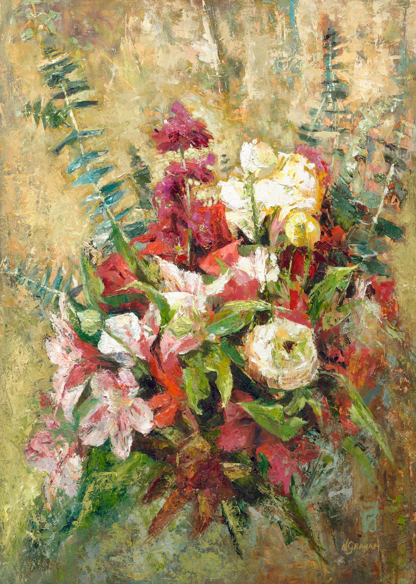 Art painting - Market Flowers