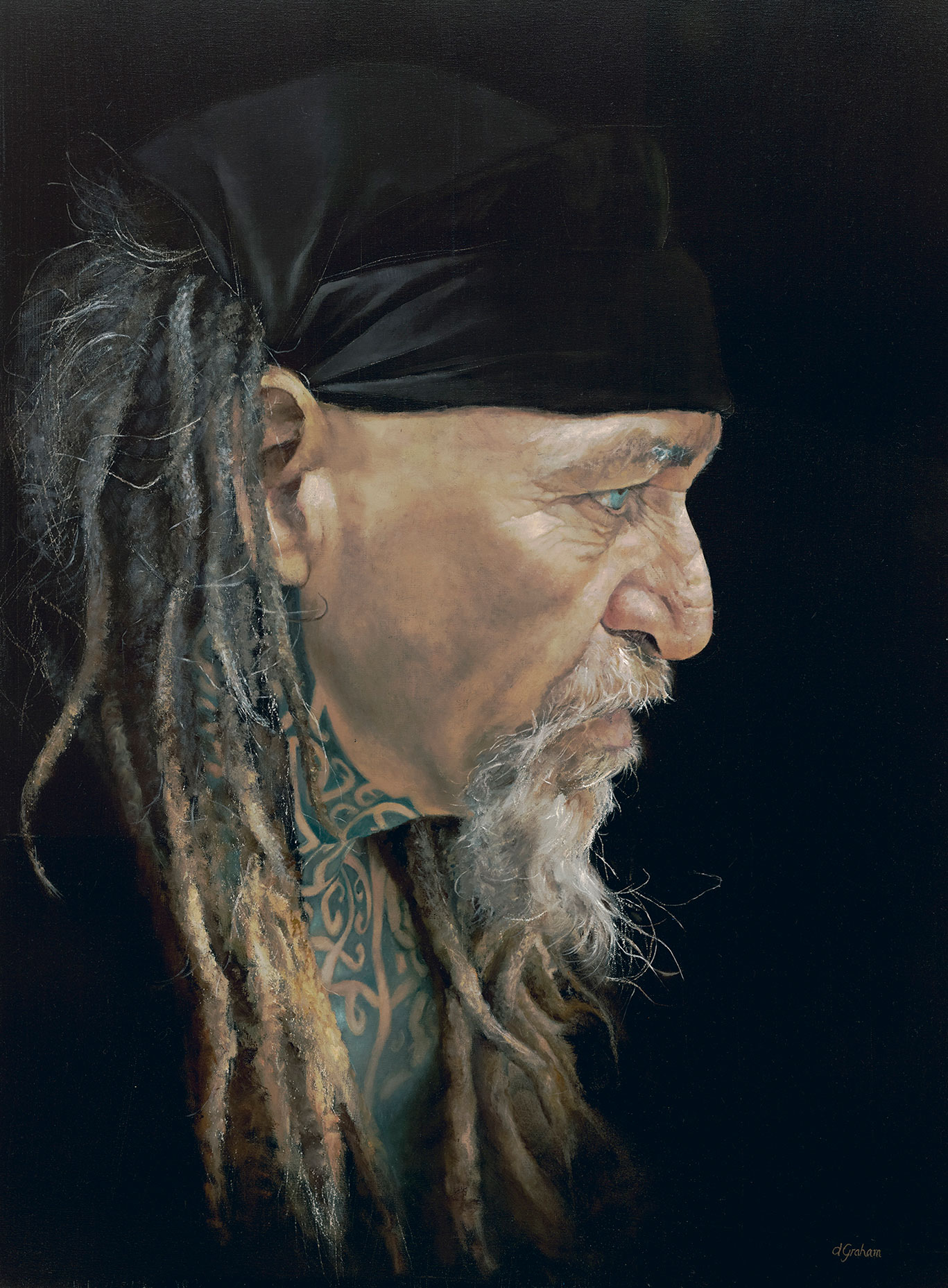 Art painting - To Know His Story - Oil on Canvas
