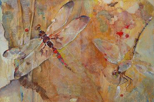 Dragonfly Art Painting