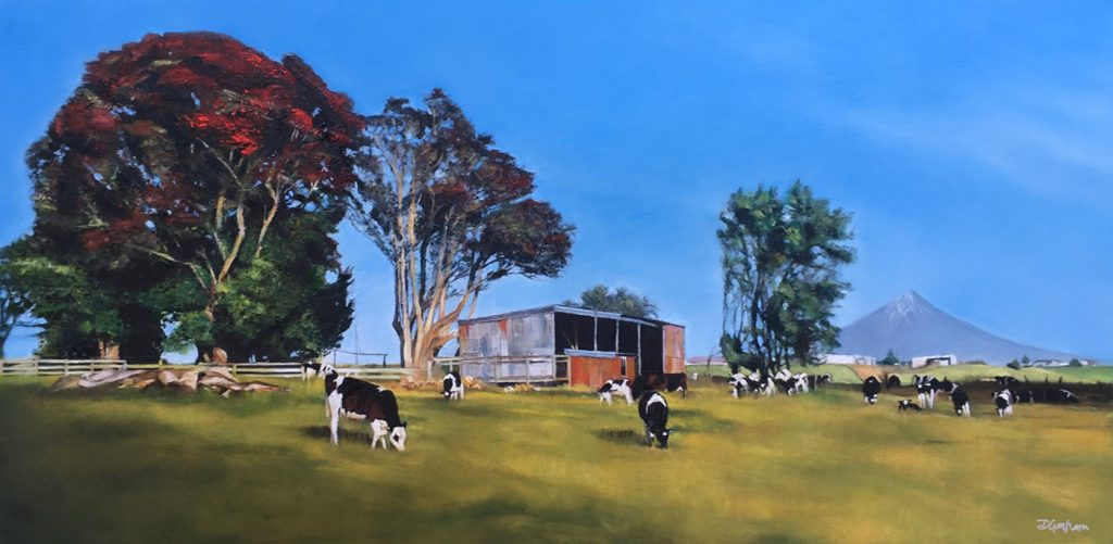 Taranaki Farm Art Painting