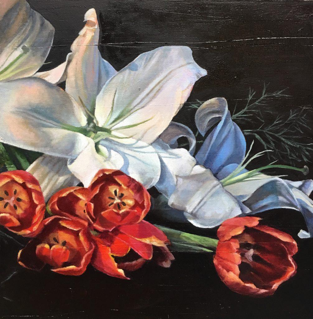 Floral Art in Oil