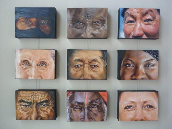 Eyes Painting in Oil
